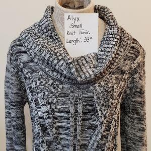 Alyx Sweater Dress, Sm. black & white